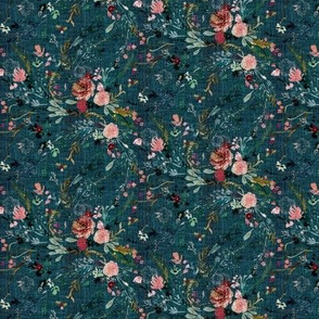 Fable floral (teal) MICRO