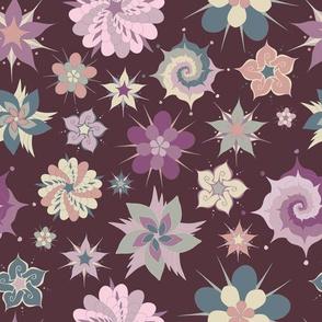 Abstract Floral - Dark Purple