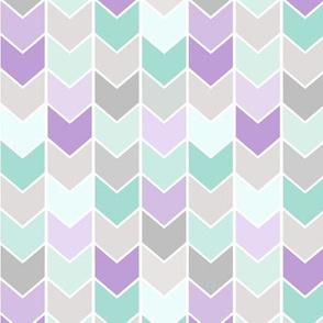 Chevron Arrows - Mint Gray Lavender