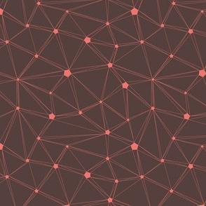 Coral Mesh network - brown granite