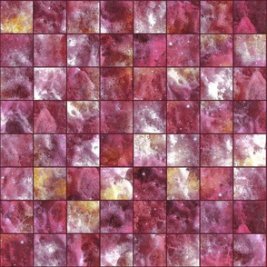 mosaic sea foam checkerboard tiles burgundy pink