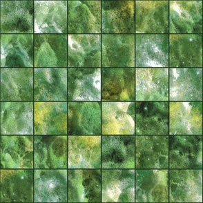 mosaic sea foam checkerboard tiles green