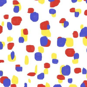 random spots in primary colors