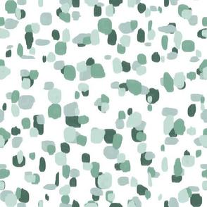 random spots soft greens