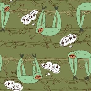 Sloths-dreamers (khaki)