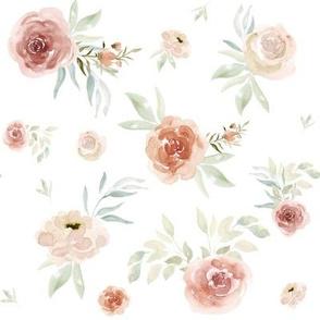 "8"" Sun Florals // White"