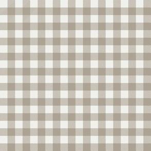"taupe check fabric - sfx0906 - 1/2"" squares - check fabric, neutral plaid, plaid fabric, buffalo plaid"