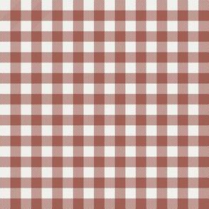 "redwood check fabric - sfx1443 - 1/2"" squares - check fabric, neutral plaid, plaid fabric, buffalo plaid"