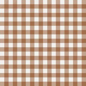 "pecan check fabric - sfx1336- 1/2"" squares - check fabric, neutral plaid, plaid fabric, buffalo plaid"