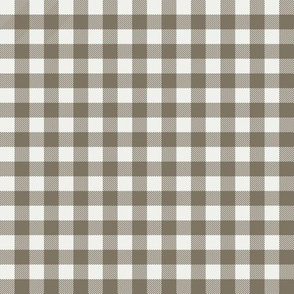 "fossil check fabric - sfx1110 - 1/2"" squares - check fabric, neutral plaid, plaid fabric, buffalo plaid"
