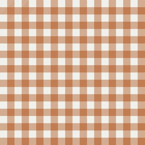 "caramel check fabric - sfx1346- 1/2"" squares - check fabric, neutral plaid, plaid fabric, buffalo plaid"