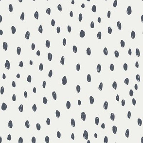 night dots on snow fabric - sfx3919 - dots, nursery, baby, muted, earthy, earth tones, simple, minimal, gender neutral fabric