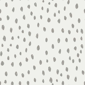 fog dots on snow fabric - sfx5803 - dots, nursery, baby, muted, earthy, earth tones, simple, minimal, gender neutral fabric