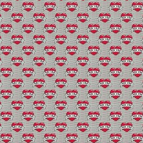 (micro) mom heart tattoo - stripes C19BS