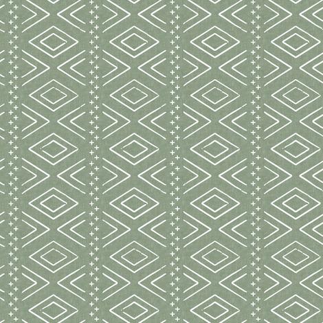 (small scale) Safari Wholecloth Diamonds on Sage  - farmhouse diamonds - mud cloth fabric C19BS fabric by littlearrowdesign on Spoonflower - custom fabric