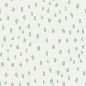 seaglass dots on snow fabric - sfx6008- dots, nursery, baby, muted, earthy, earth tones, simple, minimal, gender neutral fabric
