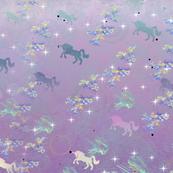 Unicorns Jumping Through Hoops