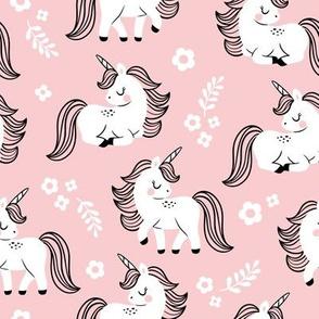 baby unicorns - light pink, large