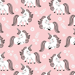 baby unicorns - light pink, small