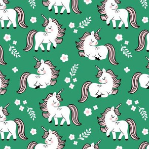 baby unicorns - green, small