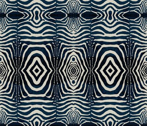 Zebra Print -Ink & Ivory   fabric by babyancestree on Spoonflower - custom fabric