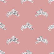 Dala Rabbit-pinkbackground