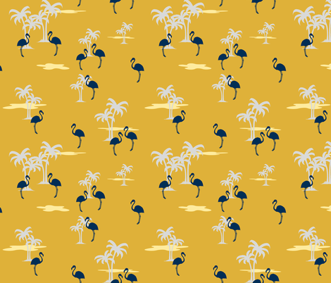Coral Sands (gold) fabric by thewallpaperfiles on Spoonflower - custom fabric