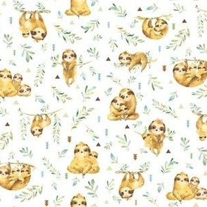 TINY Sloths Hangin On – Children's Bedding Baby Boy Nursery