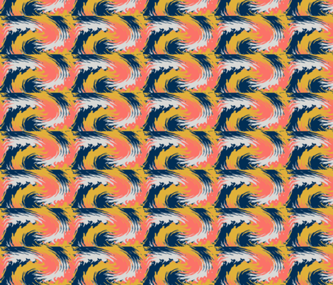 Swirls - 2019 Pantone Colour Of The Year fabric by lisa5 on Spoonflower - custom fabric