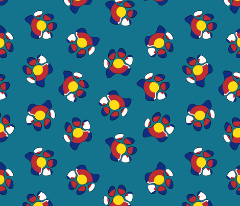 Colorado Paw Prints fabric by everhigh on Spoonflower - custom fabric