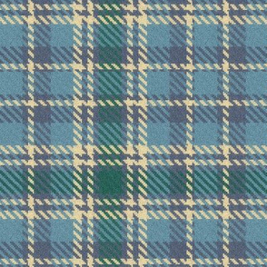 Sky Lavender Cream and Forest Plaid