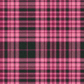 Hot Pink and Charcoal Plaid