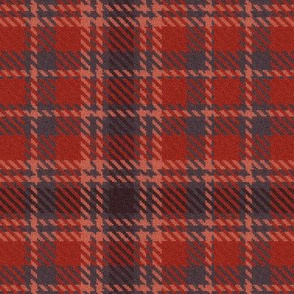 Cherry Peach and Charcoal Plaid