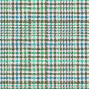 Olive Mint and Teal on Off White Plaid