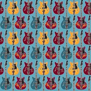 Rockabilly turquiose 6x6