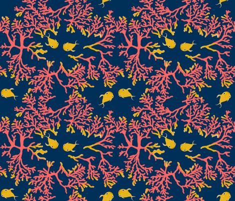 Coral Habitat fabric by salzanos on Spoonflower - custom fabric