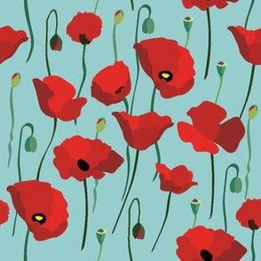 Poppy Field Blooming