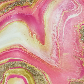 Pink and gold geode