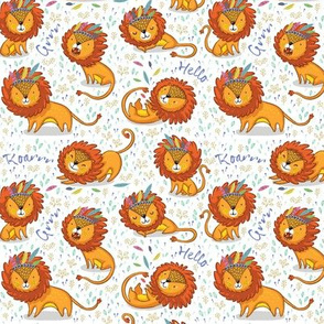 Sunny lions_white background