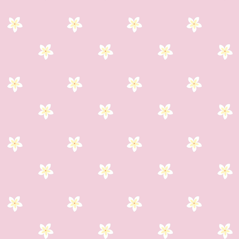 flowers on pink fabric by pamelachi on Spoonflower - custom fabric