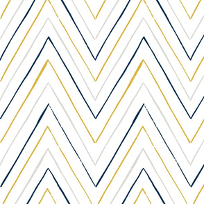 Peaks and Valleys in Grey, Midnight Blue and Goldenrod