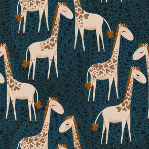 Giraffe in heart prints