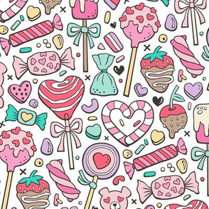 Valentine's Day Treats Candy & Hearts