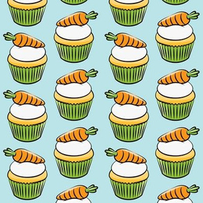 carrot cupcakes - carrot cake - easter spring sweets - blue LAD19