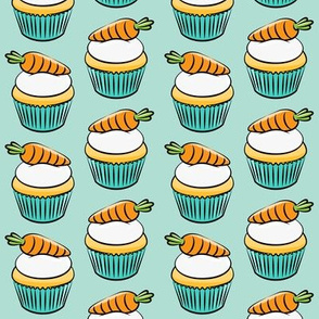 carrot cupcakes - carrot cake - easter spring sweets - mint LAD19
