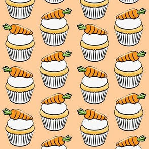 carrot cupcakes - carrot cake - easter spring sweets - peach LAD19