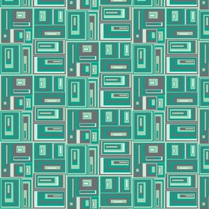 Urban style turquoise green plaid