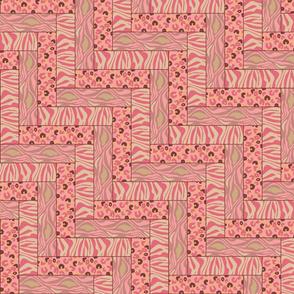 Patchwork coral animal print