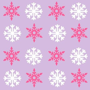 Purple Holiday Snowflakes