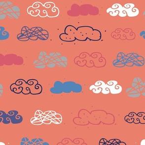 cloud seamless repeat pattern design.